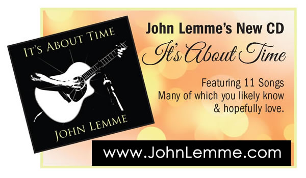 Ad for John Lemme's CD, It's About Time